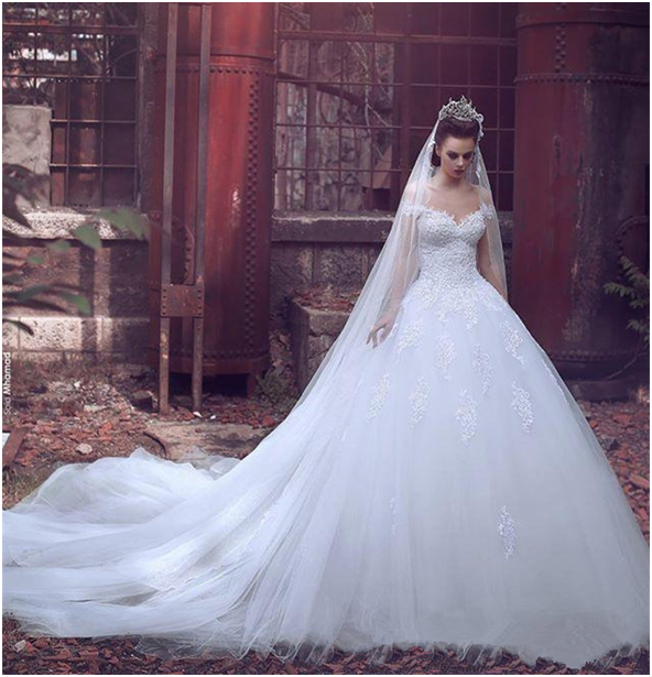 Everything You need to know about the Princess wedding dress with train