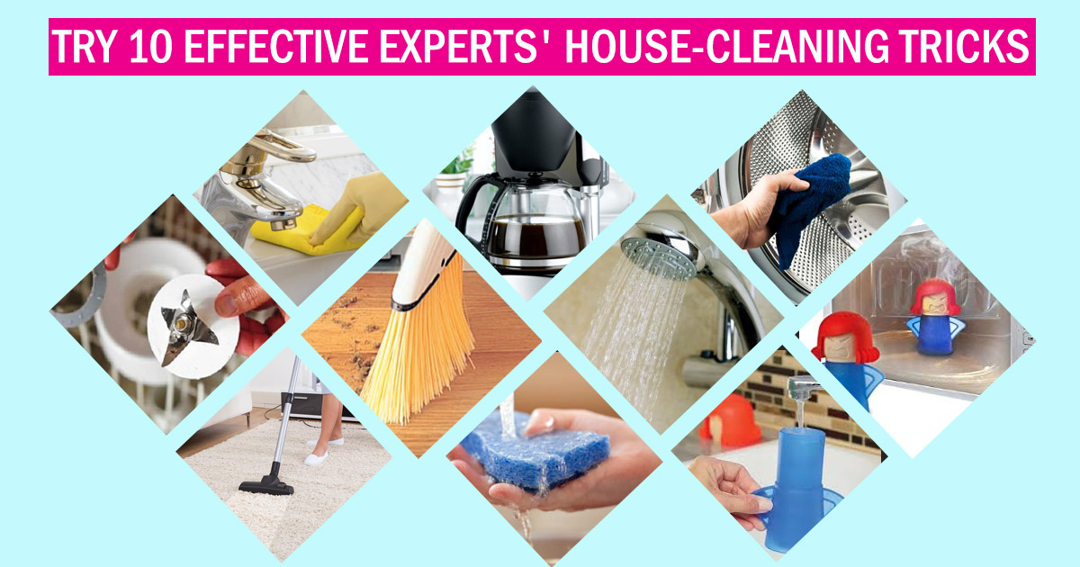 Try 10 Effective Experts' House-Cleaning Tricks