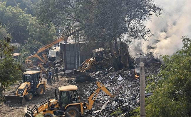 Delhi Battery Warehouse Collapsed When Fire-Fighting Op Was About To End